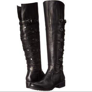 CARLOS SANTANA Black Metropolis Knee High Boots
